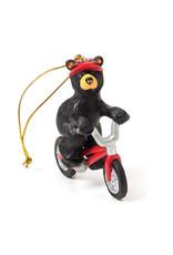 Bearfoots Biking Bear Ornament