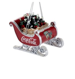 Coca-Cola Sleigh Ornament