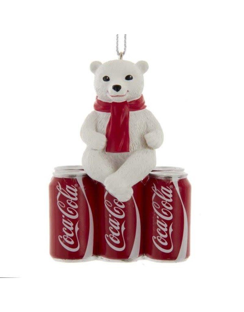 Polar Bear Cub on Coke 6-Pack Ornament