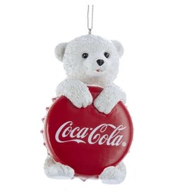 Cub with Coca-Cola Bottle Cap Ornament
