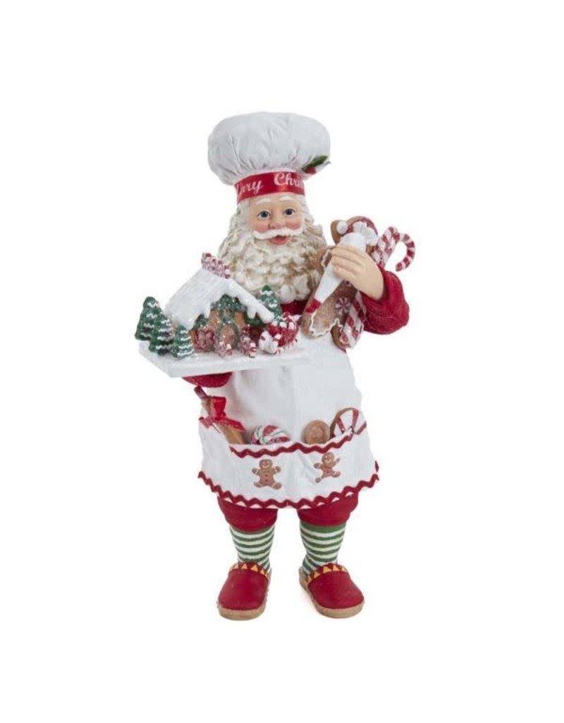 Fabriche Gingerbread Chef Santa