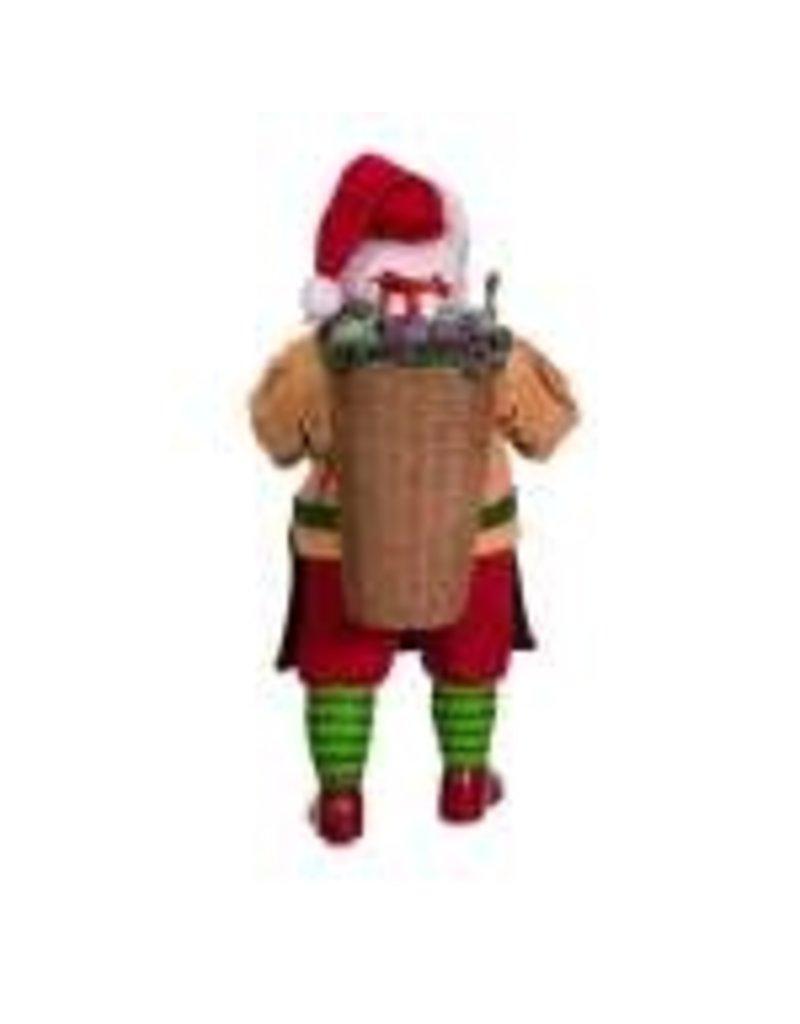 Fabriche Wine Basket Santa