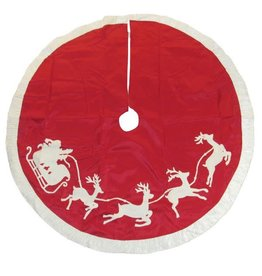 Embroidered Santas Sleigh Treeskirt