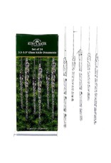 Glass Clear Icicle Set of 24