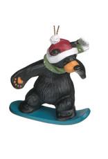 Bearfoots Bear Snowboarder Ornament