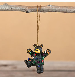 Bearfoots Hap Wrapped in Lights Ornament