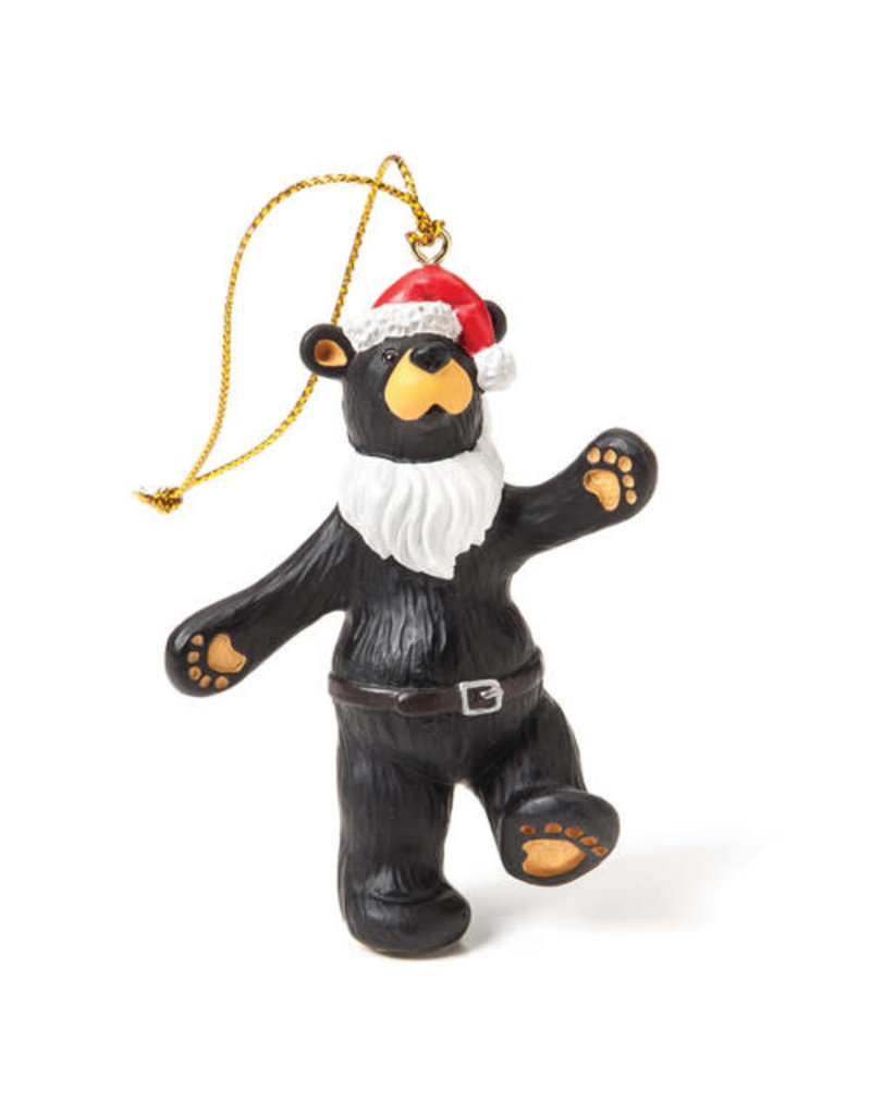 Bearfoots Jolly Santa Bear Ornament