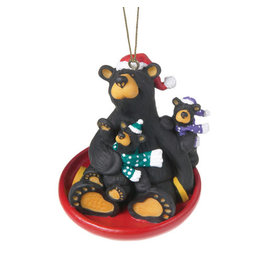 Bearfoots Saucer Sled Ornament