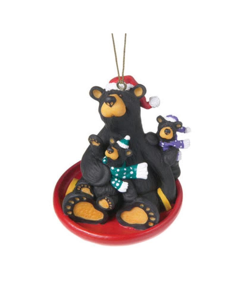 Bearfoots Saucer Sled Ornament