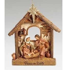 Fontanini Holy Family Stable Ornament