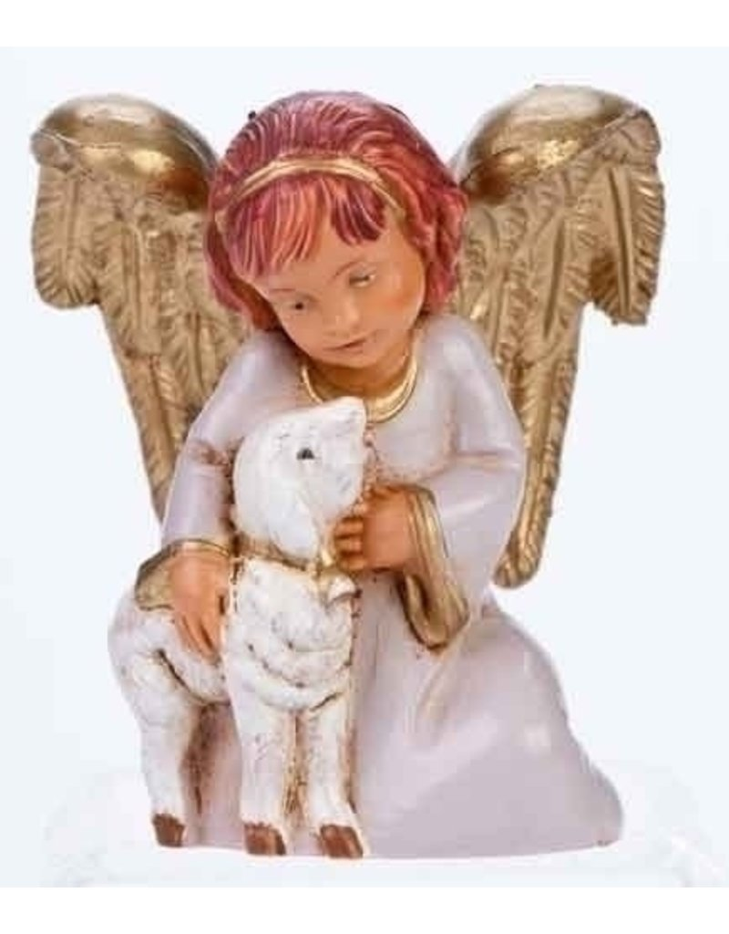 Fontanini Adina Angel Holding Lamb