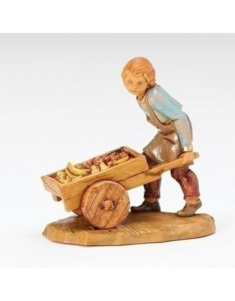 Fontanini Hugo, Villager Pushing Cart