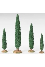 Fontanini Small Cypress Tree Set of 4