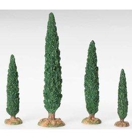 Fontanini Small Cypress Tree Set of 4