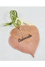 The Rose Lady Rose Gold Preserved Aspen Leaf - Colorado