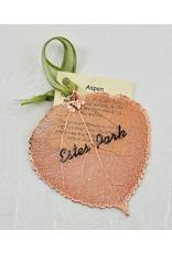 The Rose Lady Rose Gold Preserved Aspen Leaf - Estes Park