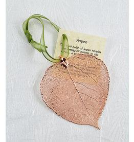 The Rose Lady Rose Gold Preserved Aspen Leaf - Plain