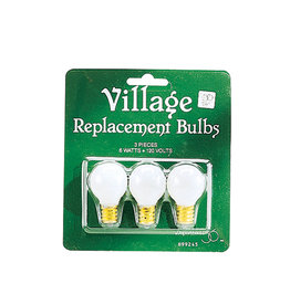 Department 56 Village Replacement Bulbs 120v-Round Set of 3
