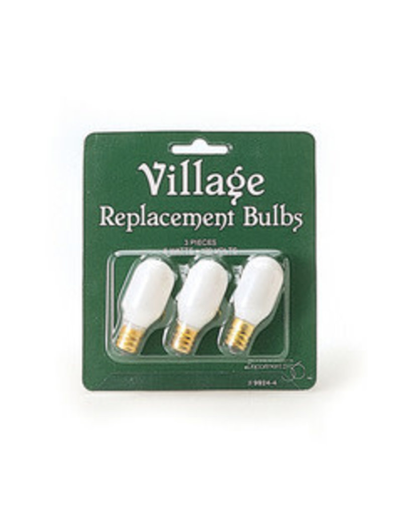 Department 56 Village Replacement Bulb 120v Oval Set of 3