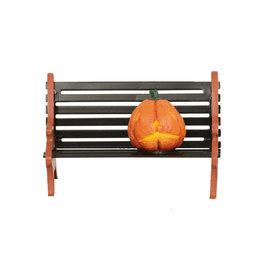 Haunted Pumpkin Bench for Halloween Village