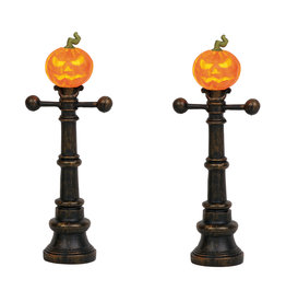 Halloween Street Lamps Set of 2 for Halloween Village