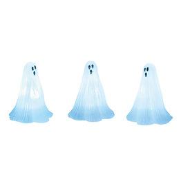 Lit Ghosts Set of 3 for Halloween Village