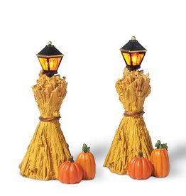 Department 56 Corn Stalk Lanterns Set of 2 for Halloween Village