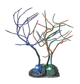 Department 56 Lit Spooky Sparkle Trees for Halloween Village