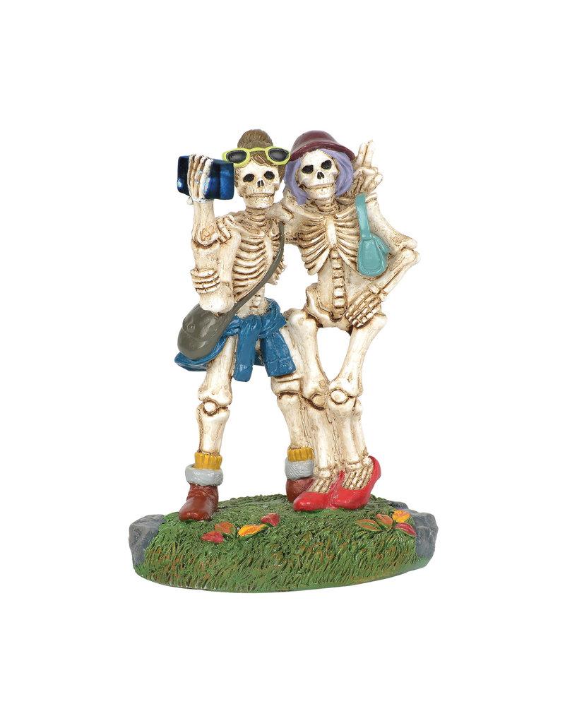 Skelfie for Halloween Village
