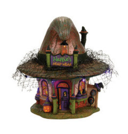 Department 56 Hattie's Hat Shop for Halloween Village