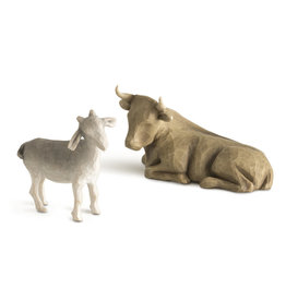 Willow Tree Ox and Goat Nativity Figure