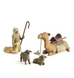 Willow Tree Shepherd & Stable Animals Nativity Figure
