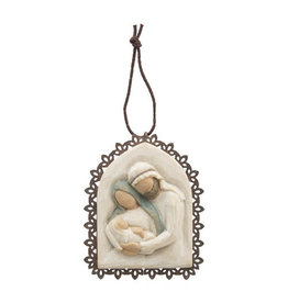 Willow Tree Holy Family Metal Edged Ornament