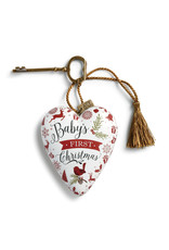 Baby's 1st Christmas Art Heart