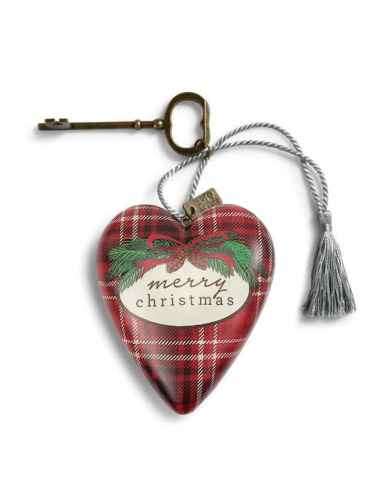 Cozy Christmas Art Heart