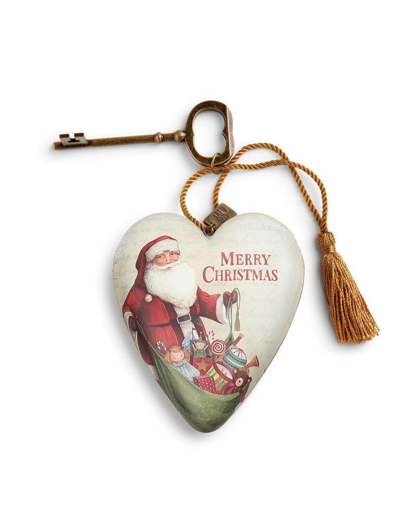 Merry Christmas Art Heart