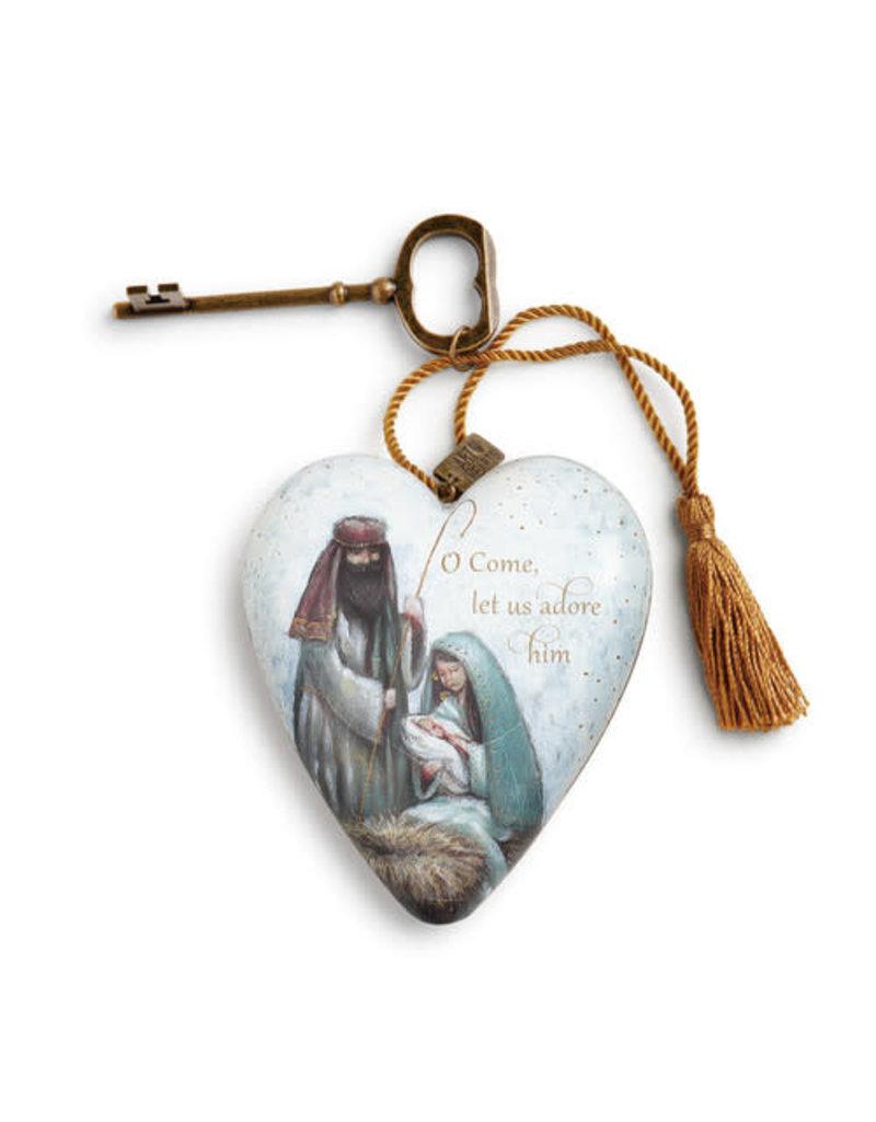 Let Us Adore Him Art Heart