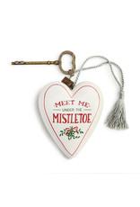 Under the Mistletoe Art Heart