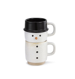 Snow Day Snowman Stacked Mug S2