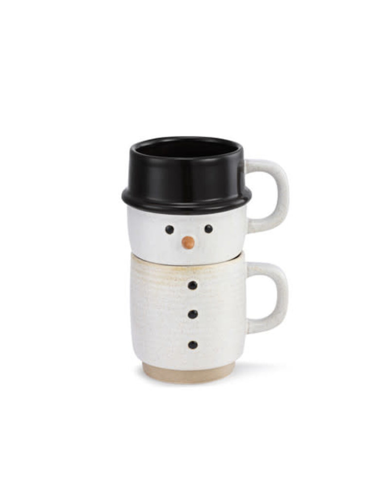 Snow Day Snowman Stacked Mug S2