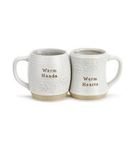 Warm Hands and Hearts Cuddle Mug Set of 2