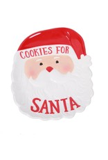 Santa Face Cookie Plate