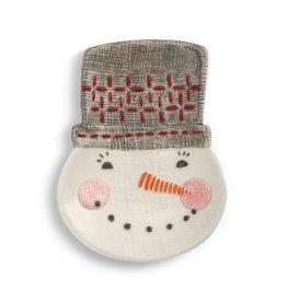 Seasons Greetings Snowman Spoon Rest