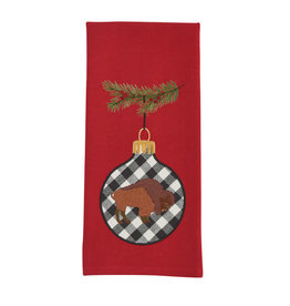 Bison Ornament Embroidered Towel