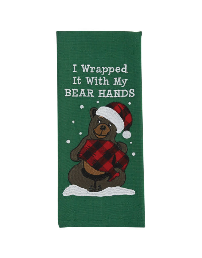 Bear Hands Embroidered Towel