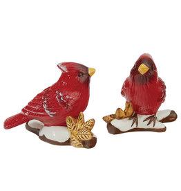 Cardinal on Snow S&P Shaker Set of 2