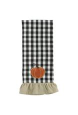 Autumn Checkerboard Pumpkin Towel