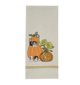 Pumpkin Patch Kitty Towel