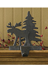 Cast Iron Moose Tree Stocking Holder