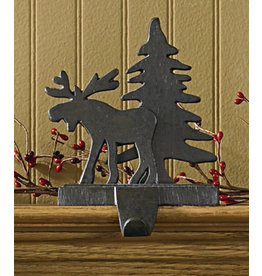 Cast Iron Moose Tree Stocking Holder